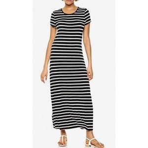Athleta Navy & White Striped Maxi Dress, Small